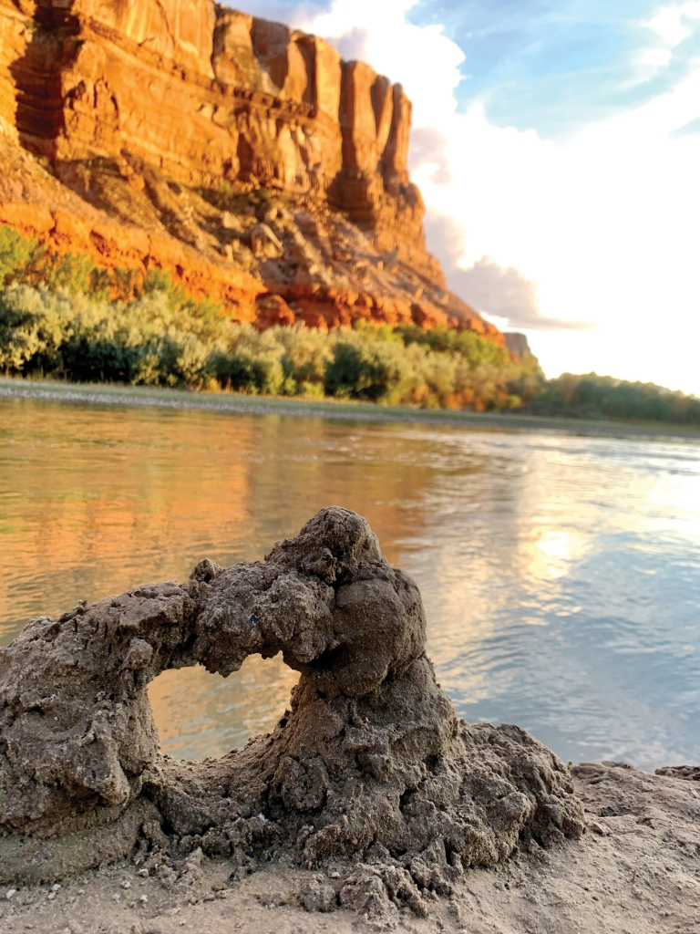 New arch discovered along the San Juan River!  Sofie Hook photo